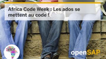 Africa Code Week : Les ados se mettent au code !