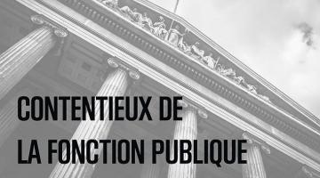 Le contentieux de la fonction publique