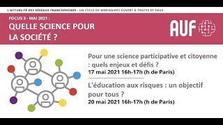 Pour une science participative et citoyenne : quels enjeux et défis ?