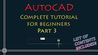 AutoCAD - Complete Tutorial for Beginners - Part 3 (dimensions, layers, text, print)