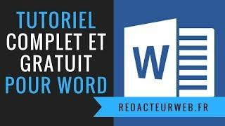 Tutoriel /formation Microsoft Word Office : GRATUIT et COMPLET