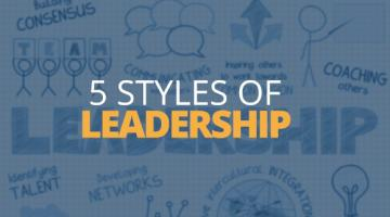 5 Different Types of Leadership Styles