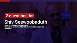 Shiv seewoobaduth, the challenges faced by Mauritius in terms of climate change adaptation