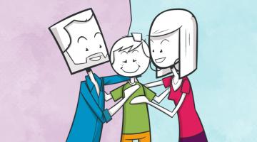 Parents après la séparation